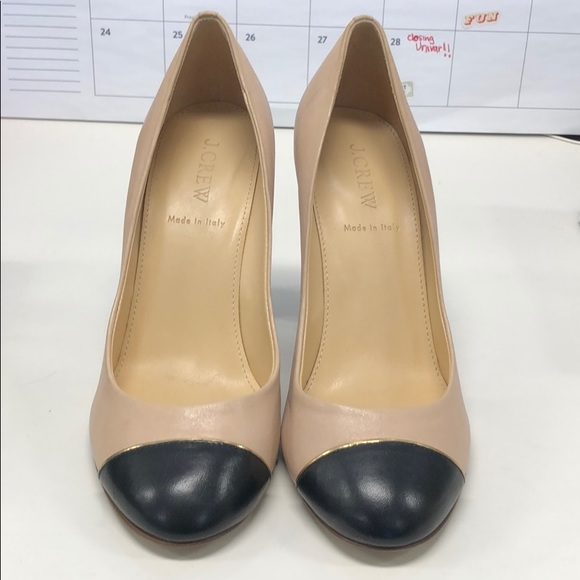 d00e85bae8c JCREW black and nude work pumps - size 38